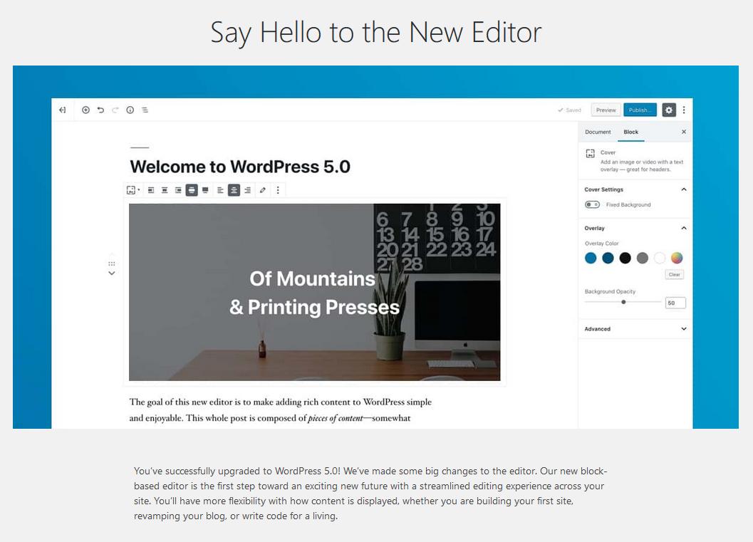 Gutenberg: Ny editor i WordPress 5.0